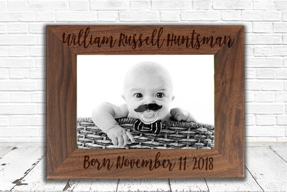 Baby Frame Baby Shower Gift Baby Announcement First | Etsy