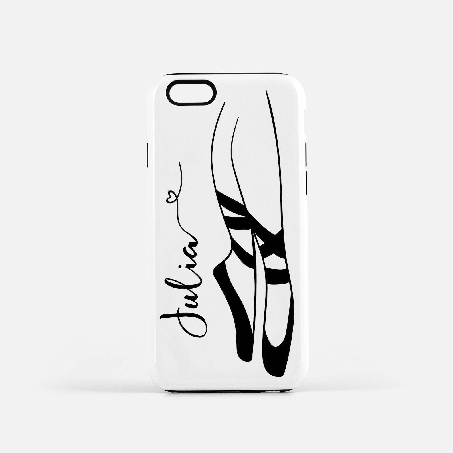 ballet shoes, phone case, iphone case, dancer phone case, ballerina, custom, personalized phone case, iphone 8 plus case, iphone