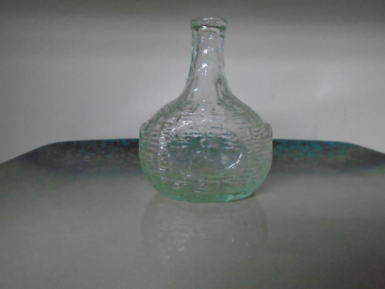 Open Pontil Basket Weave Civil War era Glass bottle