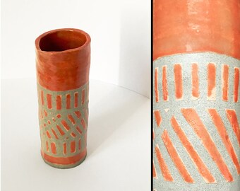 Ceramic Vase - Orange Rivers