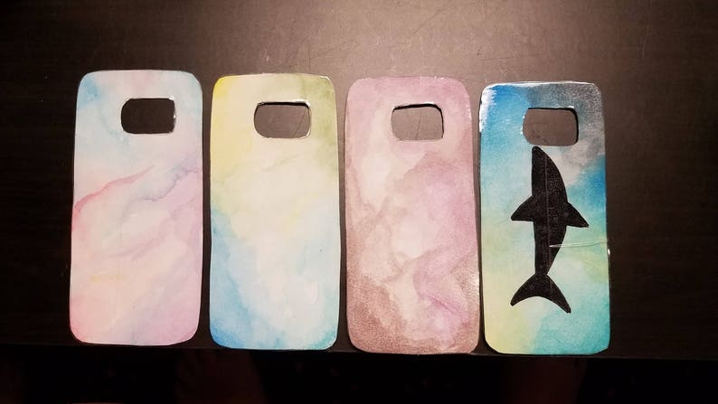 new style 27b71 81a88 Hand Painted Custom Watercolor Style Phone Case Inserts *Clear Case  Included*