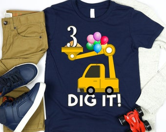 6d5980758 3 Year Old Birthday Shirt Boy, Third Birthday Shirt, 3rd Birthday Shirt,  Truck Shirt , Preschool Boy Gift, Happy Birthday Shirt For Boys