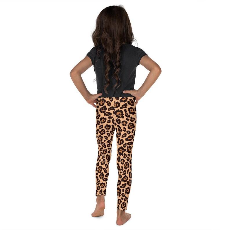 Toddler Leggings Animal Costume Yoga Leggings Kid Halloween Leopard Print Leggings Costume Girls Safari Patterned Tights Kid/'s Leggings