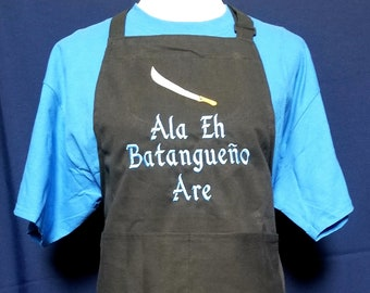 Personalized Custom Embroidered Apron - Father's Day, Birthday, Wedding, Anniversary Gift