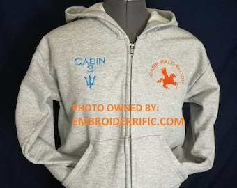 Percy Jackson Camp Half-Blood Zip-up Hoodie (Adult) - FREE U.S. SHIPPING