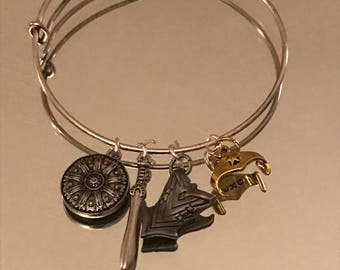 Wonder Woman Inspired charm bracelet