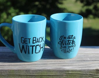 Princess Bride Themed His and Hers Mugs