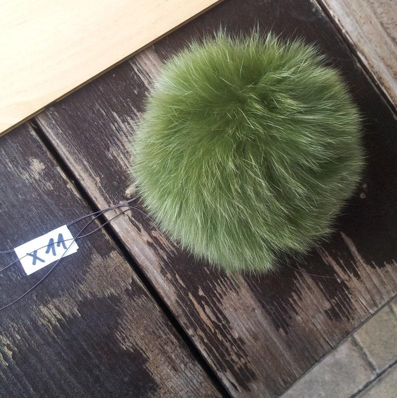 Pompom M\u00fctzenbommel Pelzball fur-Pompom Fellball Fellbommel