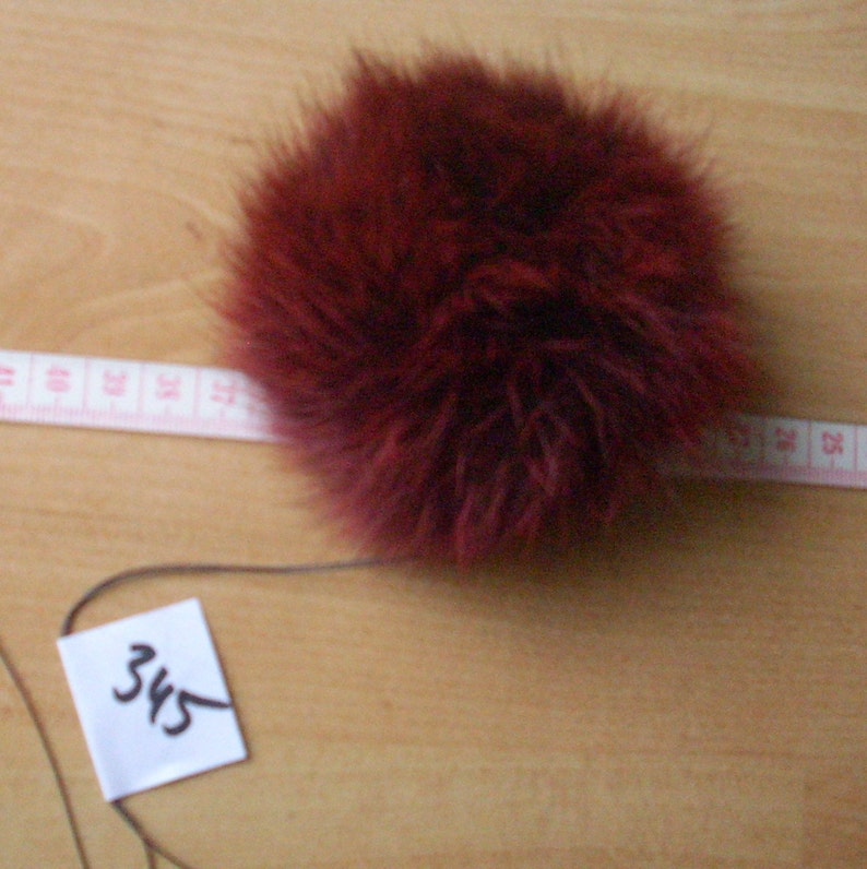 Pelzball Fellball fur-Pompom Pompom M\u00fctzenbommel Fellbommel