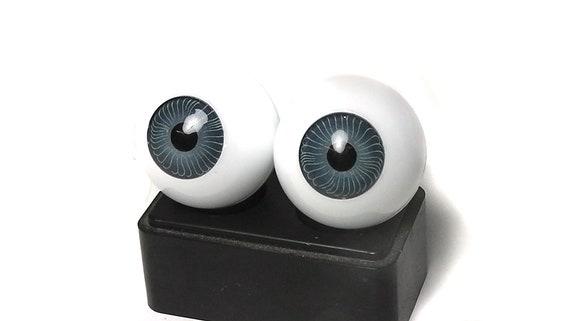 Glastic Realistic Doll Eyes 22mm Blue Lifelike New