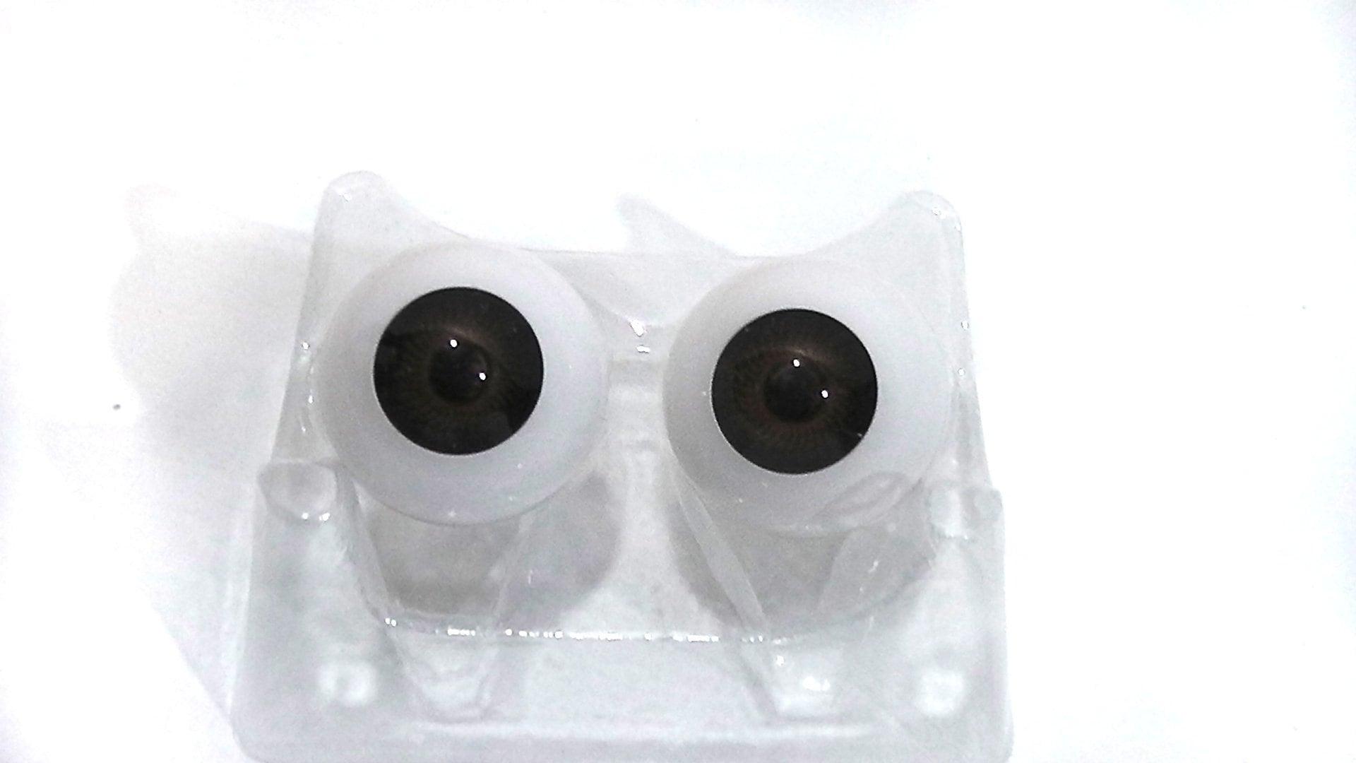 26mm plastic dark brown eyes