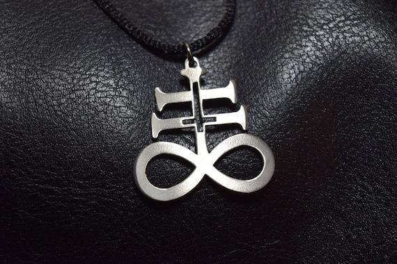 Kreuz Der Leviathan Okkult Satan Satanische Lucifer Brimstone Anhänger Halskette