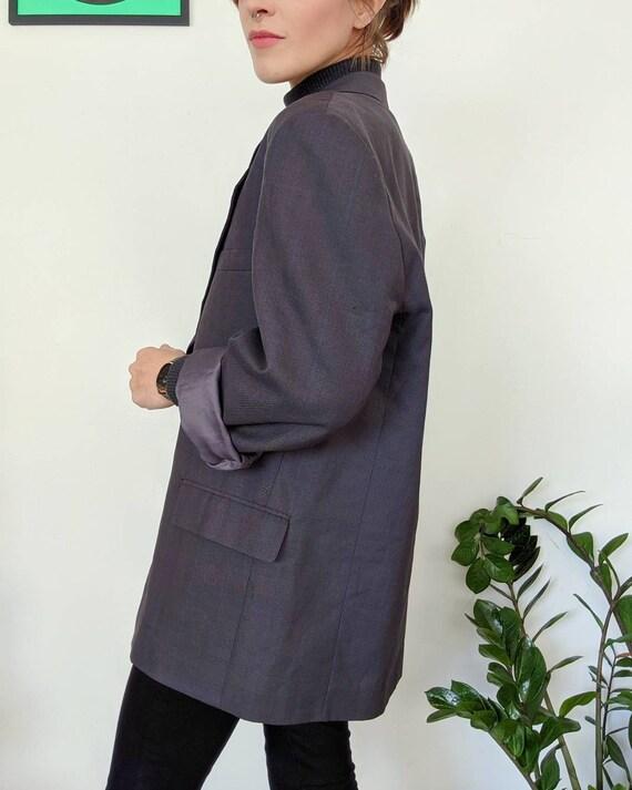VINTAGE 1990s // unisex oversized grey blazer - image 6