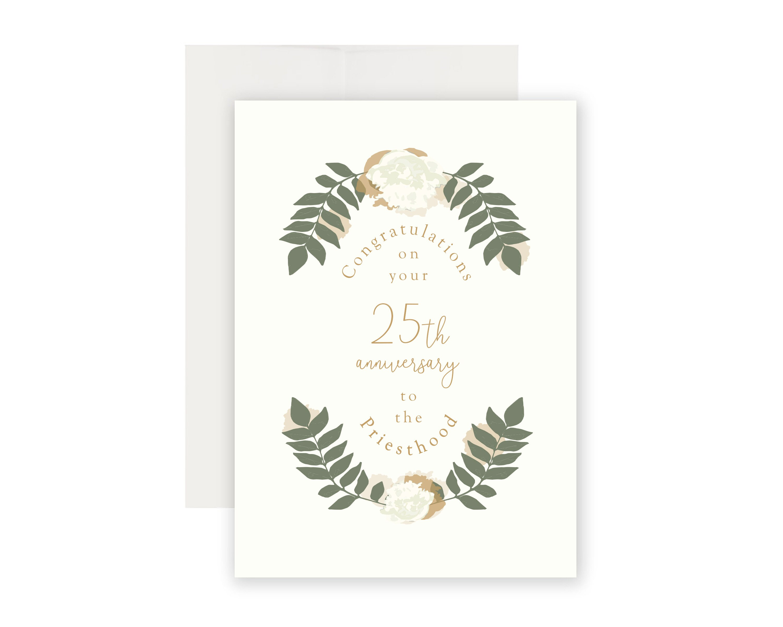 Customizable Priest Anniversary Card Priest Anniversary Etsy