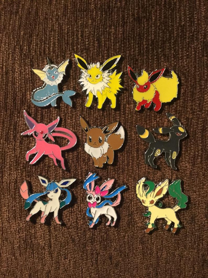 Eevee evolution hat pin set