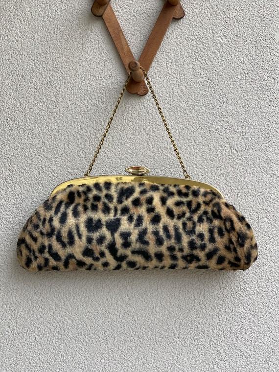 vintage faux cheetah purse