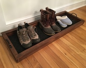 Hallway Mud Room Foyer Shoe Boot Storage Tray 36 Inch In Your Choice of Colors