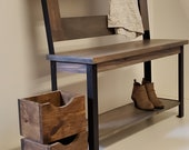 Hallway Mud Room Foyer Bench 46 Inch With Steel Legs In Your Choice Of Color