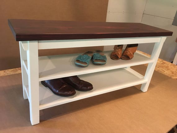 Prime Hallway Entryway Foyer Storage Bench 46 Inch With Two Shoe Shelves In Your Choice Of Color Uwap Interior Chair Design Uwaporg