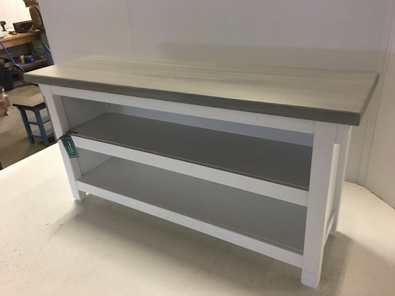 Swell Hallway Mud Room Foyer Bench 36 Inch Closed Sides With Two Shoe Shelves In Your Choice Of Color Short Links Chair Design For Home Short Linksinfo
