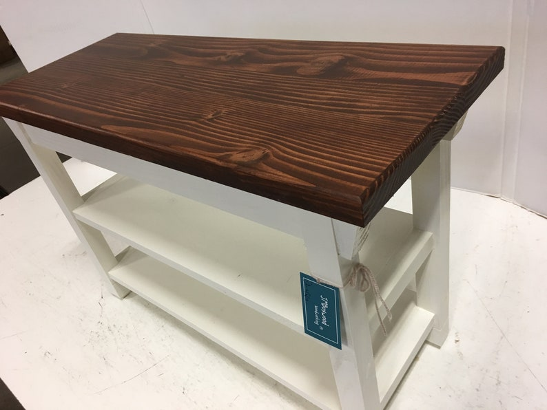 Remarkable Hallway Mud Room Foyer Bench 34 Inch Increased Width With Two Shoe Shelves In Your Choice Of Color Uwap Interior Chair Design Uwaporg