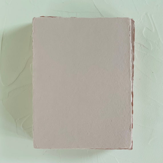 2.5 x 3.5 Handmade Cotton Rag Paper Deckle Edge Letterpress Wedding Invitation 150gsm 15 pack or 65 pack Fog 2.5x3.5 inches