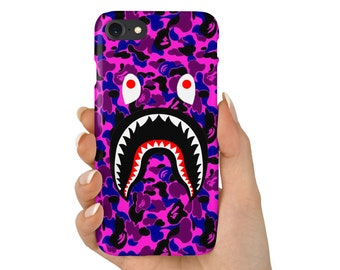 Purple Camo Shark Mouth BATHING APE Phone Case | iPhone 6 6s 7 7+ 8 8+ X | Samsung Galaxy S6, S7, S7 Edge, Note 7 | Ships from USA