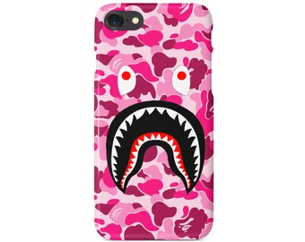 Pink Camo Bathing Ape Shark Mouth Phone Case | Gift | iPhone 6 6s 7 7+ 8 8+ X | Samsung Galaxy S6, S7, S7 Edge, Note 7 | Ships from USA