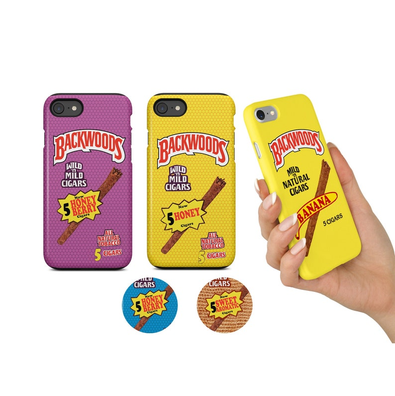 Backwoods Phone Case Cigar Roll Up Cigarillo Smoke | iPhone 5 5s SE 6 6s 6+  7 7+ 8 8+ X XS XR Max | Galaxy S6, S7, S7 Edge S8 S8+ S9 S9+