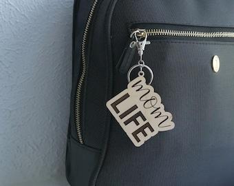 Mom Keychains   Engraved Wood Keychains, Girl Mom, Boy Mom, Dog Mom, Cat Mom, Plant Mom, Mom Life, Mama Bear, Gift For Mom