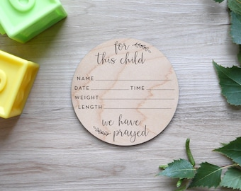 Birth Stats Sign   Engraved Wood, Birth Announcement Sign, Hospital Announcement Sign, Newborn Wood Stat Sign, Verse Baby Sign, Vine Style