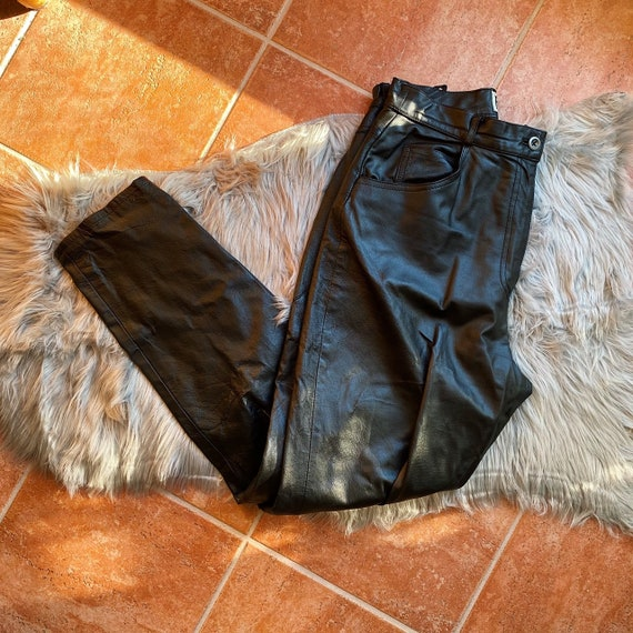 Vintage 90s Black Leather High Forenza High Waiste