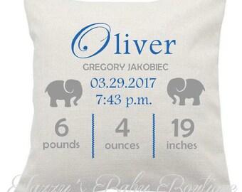 Custom Linen Baby Pillow
