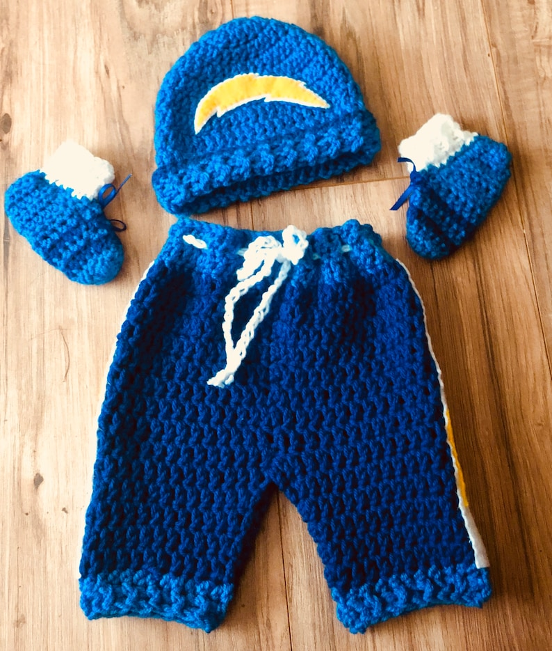 65665b1f Baby Boy Crocheted Chargers Outfit