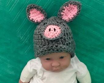 Piggy Hat for infant