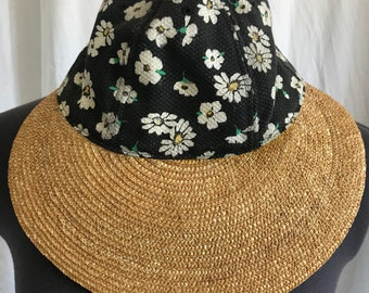 749894042a9 Vintage Sun Hat   90s Sun Hat   Festival Hat   Petite Hat
