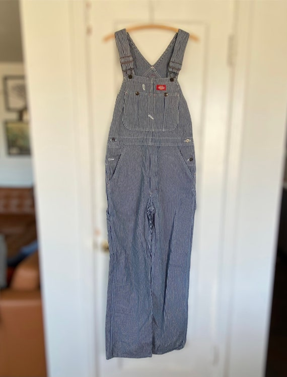 Vintage dickies overalls 30x32 striped