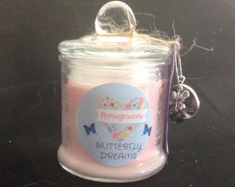 Small Hand Poured Soy Candle - Pomegranate Scent