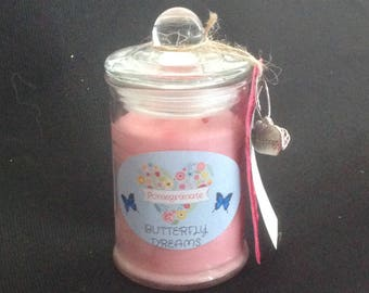 Medium Hand Poured Soy Candle - Pomegranate Scent
