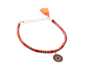 Ethnic Tangerine Necklace