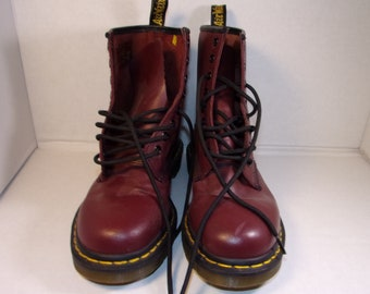 Oxblood Leather Doc Martens