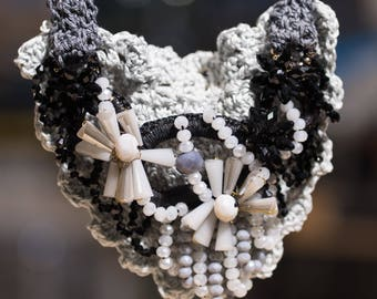Hand crocheted necklace