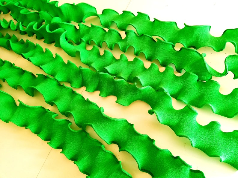 Large Paper Strands Seaweed Streamers Backdrop Wall Decor Etsy