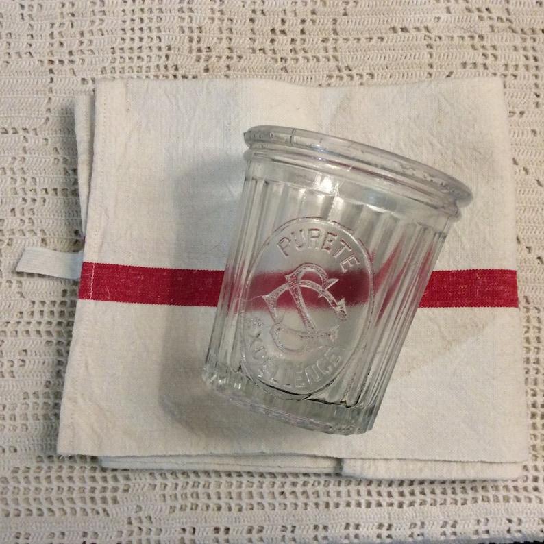 a3ffa4ebcf85 Old French Jam Jar - Pureté Excellence Jam Jar - Old French Jelly Jar