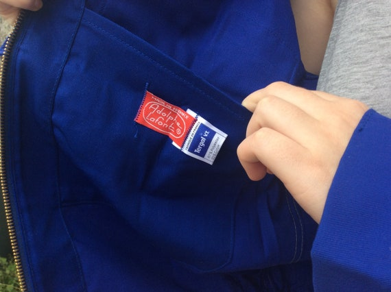 French Vintage Bleu de Travail - Blue Work Jacket… - image 5