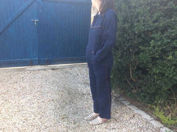 French Blue Overall - Combinaison Vintage Bleu de
