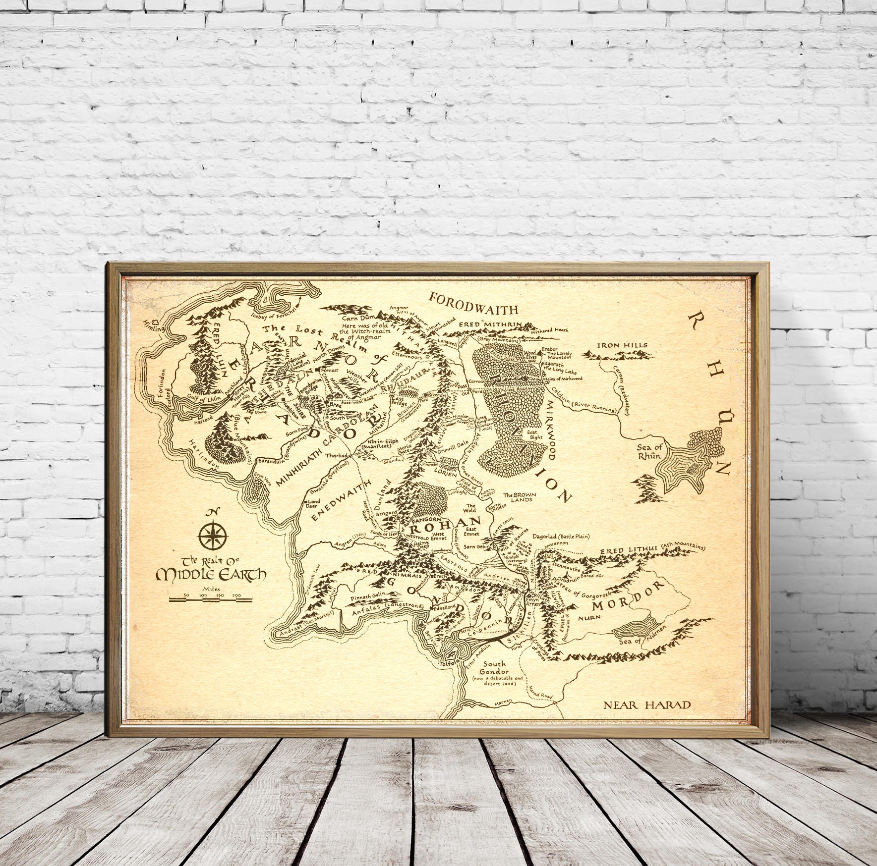 Lord Of The Rings Art. Lord Of The Rings Gift For Her Gift