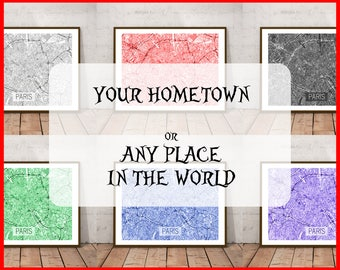 City Maps, Mothers Day, Gift For Her, Gift For Him, Custom City Maps, Custom Map, Custom Wall Art, Custom Print, City Prints