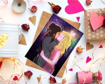 Deanoru, Nico and Karolina, Runaways, Marvel, valentines day, valentines day card, valentines day gift