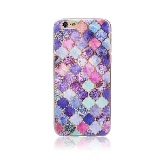 17a23161730b Purple Pink Marble Rock Pattern Wooden Print Soft Gel Thin